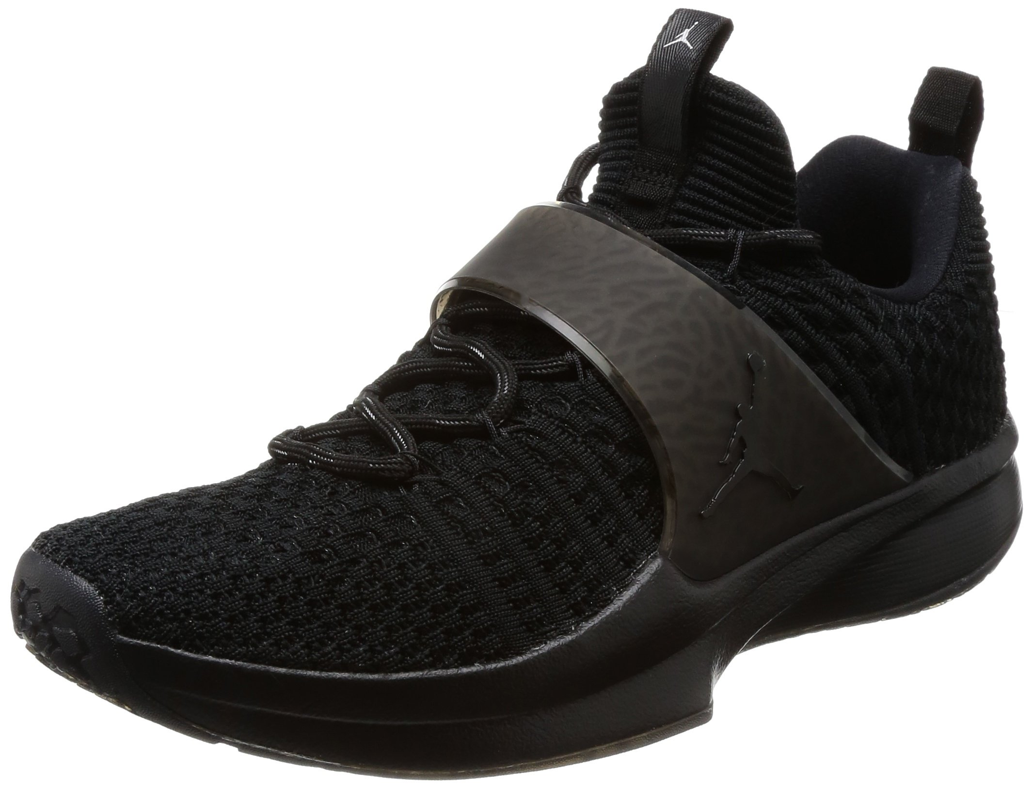 Nike jordan  flyknit, - trainer 2 flyknit,  schwarz / schwarz metallic silber nib ca7754
