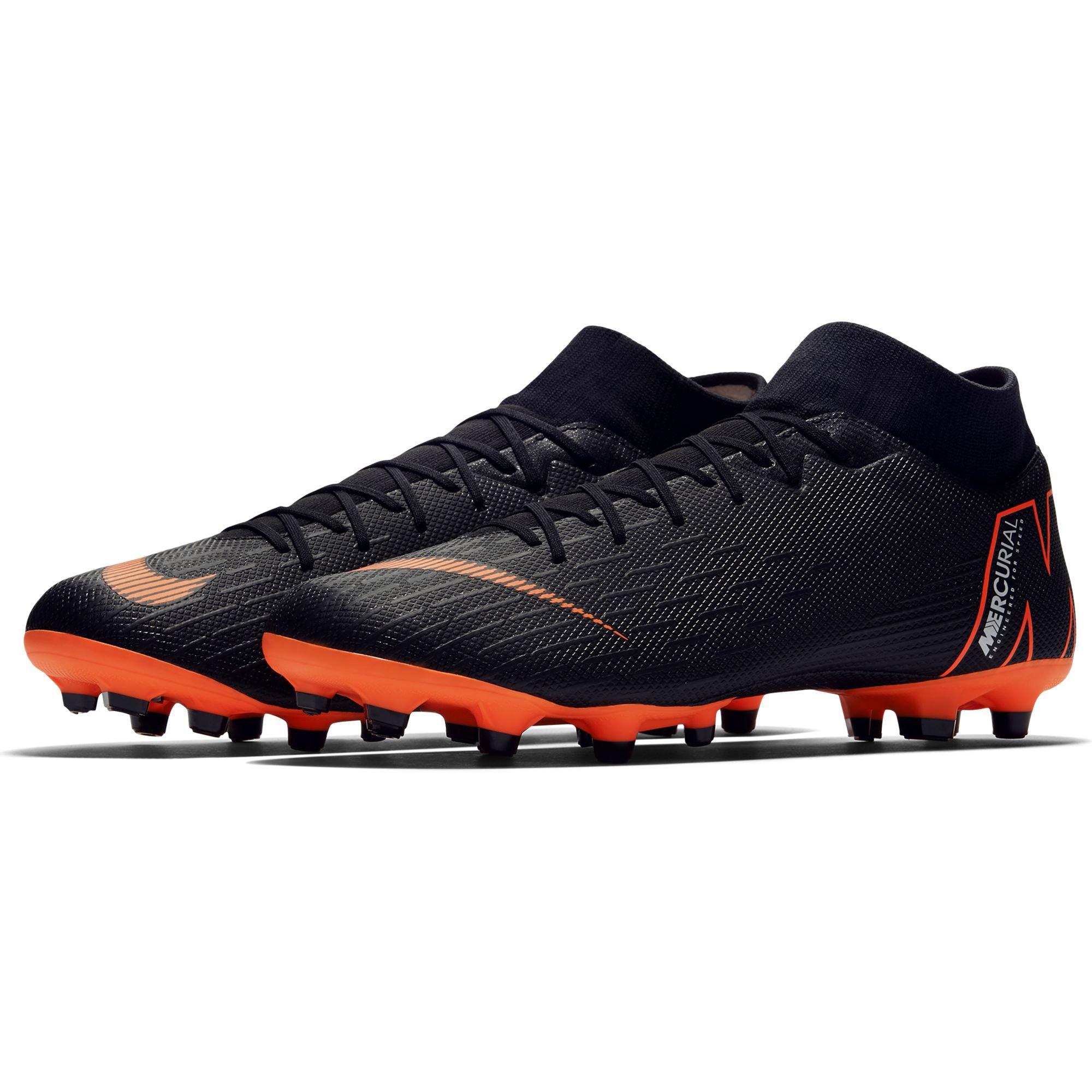 nike mercurial super vi - fest, akademie - boden fußball fest, - schwarz, orange insgesamt 62fe16